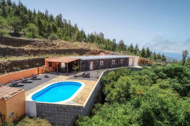 Finca with villa and pool in Tijarafe