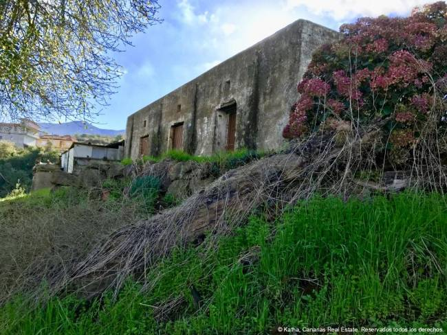 Tenerife Finca in the Orotava valley with old building